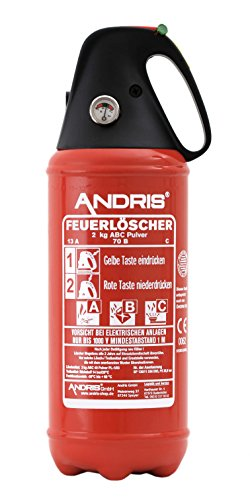 Auto Feuerlöscher 2kg ABC Pulver...