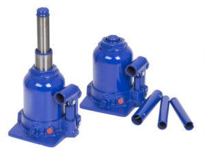 Blauer hydraulischer Stempelwagenheber