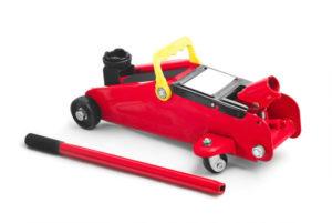 Rangierwagenheber in Rot