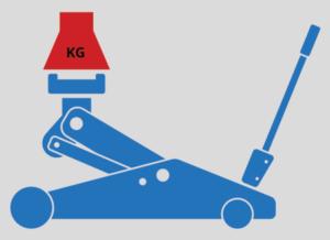 Maximales Hubgewicht beim Wagenheber