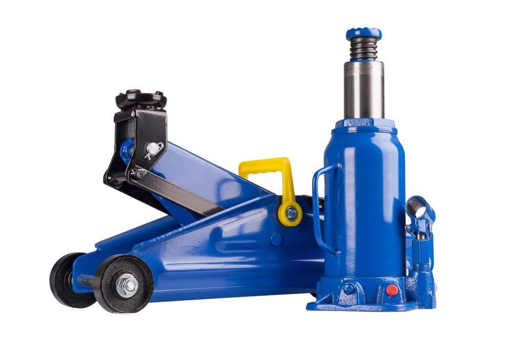Hydraulischer Wagenheber als Rangierwagenheber und Stempelwagenheber
