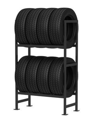 Reifenregal mit 8 Reifen