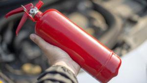 Kleiner Feuerlöscher fürs Auto