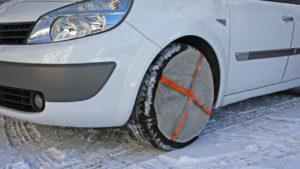 Schneesocke als Alternative zur Schneekette