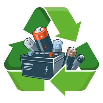 Recycling von Batterien